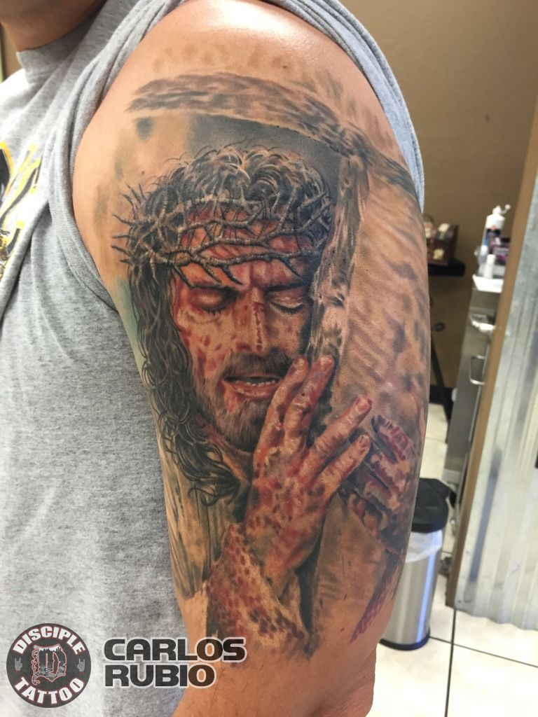 latest passion of christ tattoos find passion of christ tattoos. Black Bedroom Furniture Sets. Home Design Ideas