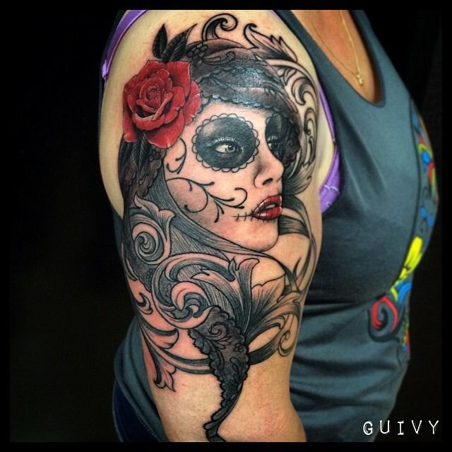 guivy catrina tattoo guivy hellcat tattoo tatouage art for. Black Bedroom Furniture Sets. Home Design Ideas