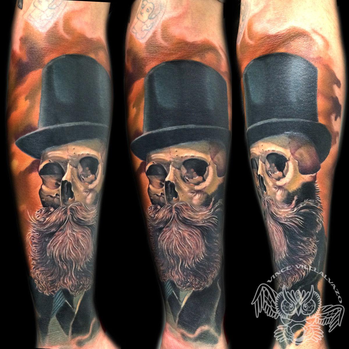 Vincevillalvazogentleman Skull Skull Gentleman Color Illustartive