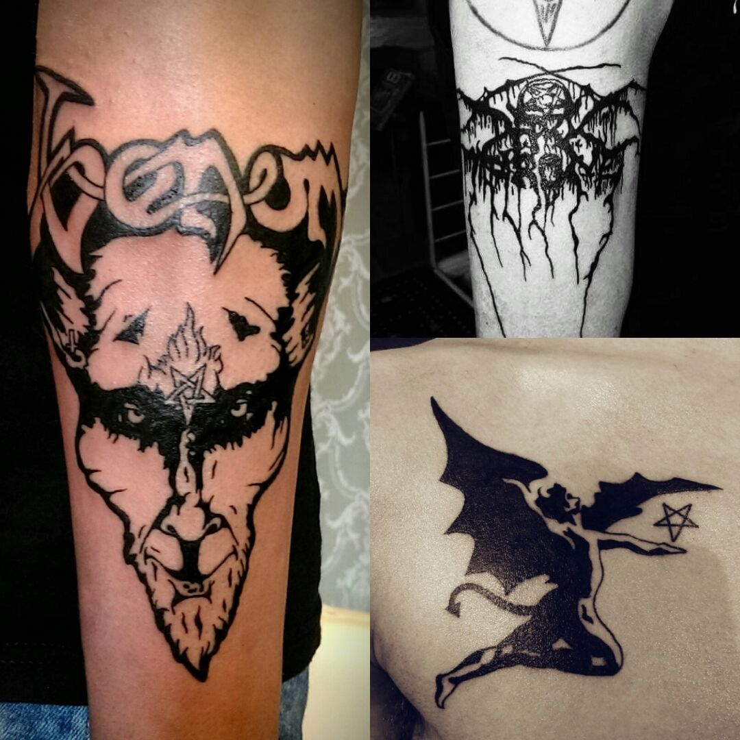 black metal tattoo
