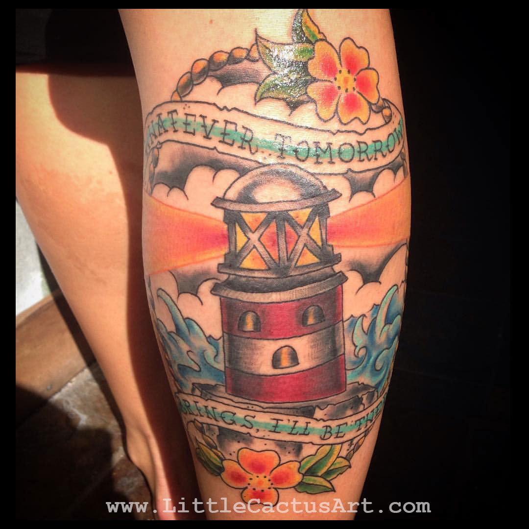 Littlecactusart sayings traditional color light house for Best traditional tattoo artists