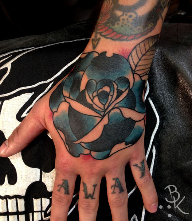 Briankellyblue Rose Rose Traditional New Traditional Hand Tattoo