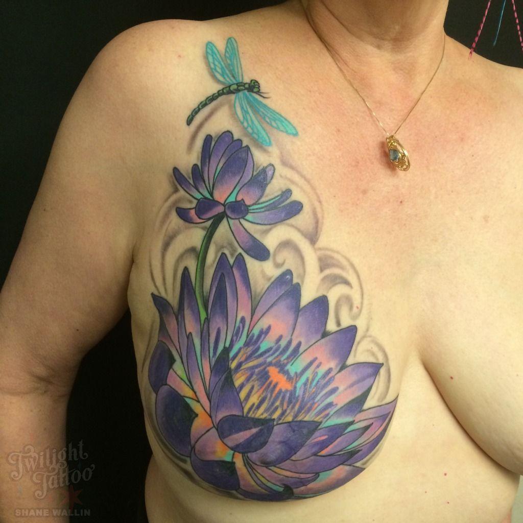 Mastectomytattoomastectomy breast cancer nipple tattoo floral lotus phoneupload izmirmasajfo