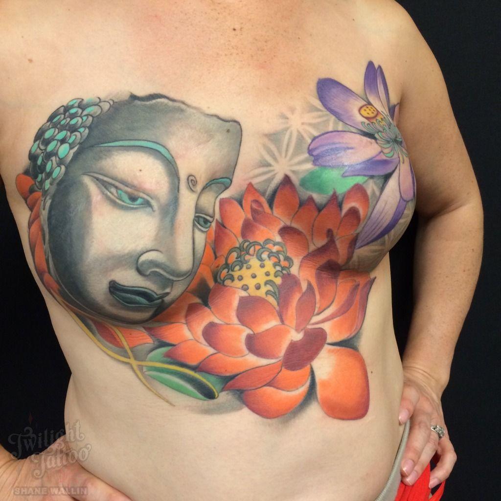 Mastectomytattoomastectomy Breast Cancer Buddha Lotus Mastectomy