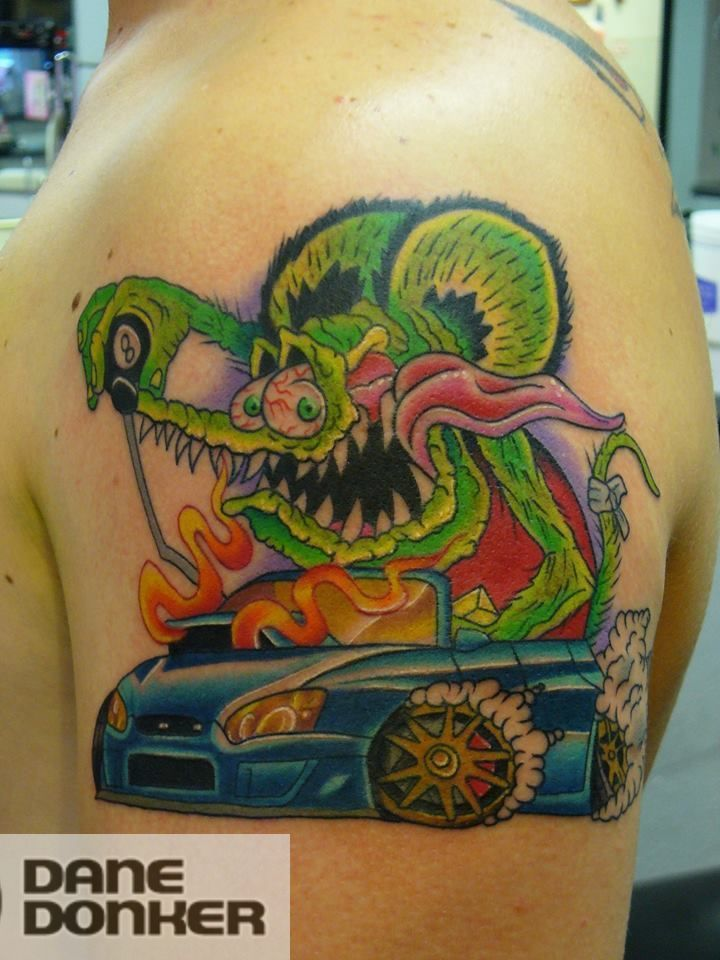 latest rat rod tattoos
