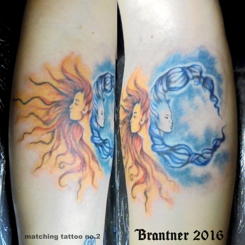 Tommybrantnersun And Moon 1 Matching Tattoos Sun Moon Bff