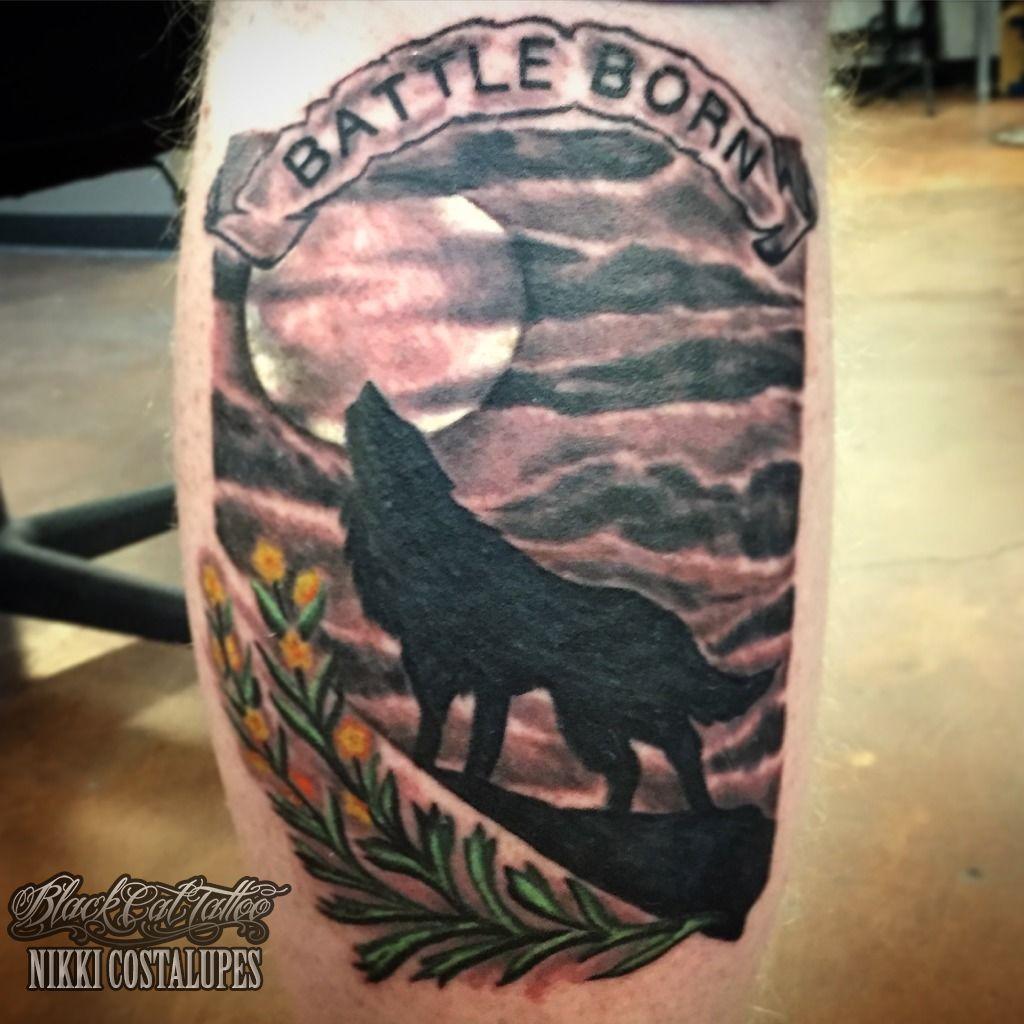 Nikkisintattoo Nevada Battle Born Wolf Reno