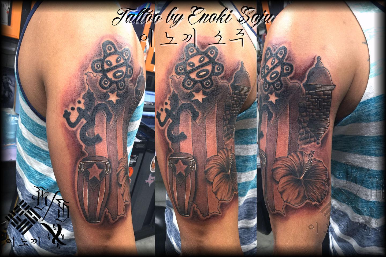 Enokisoju puerto rican tattoo by enoki soju enoki soju for Puerto rican tattoo