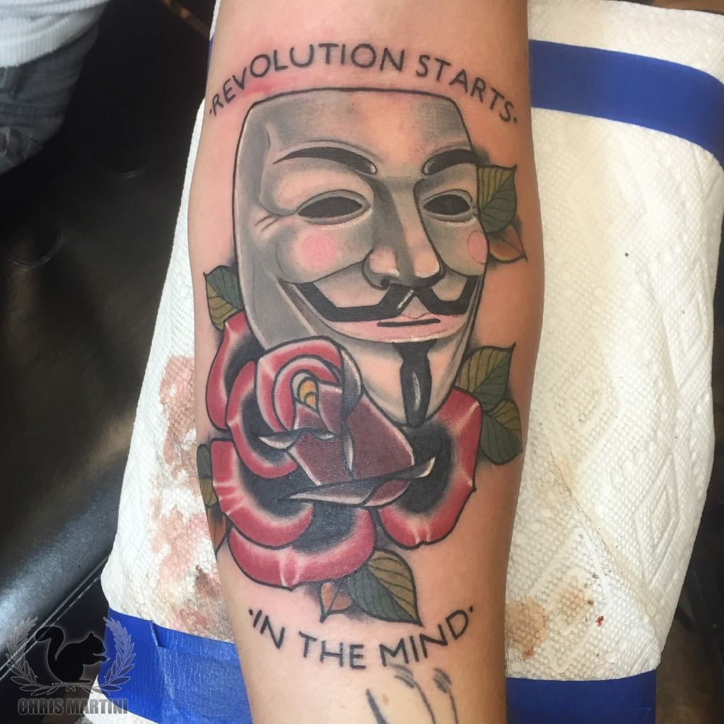 latest anonymous mask tattoos