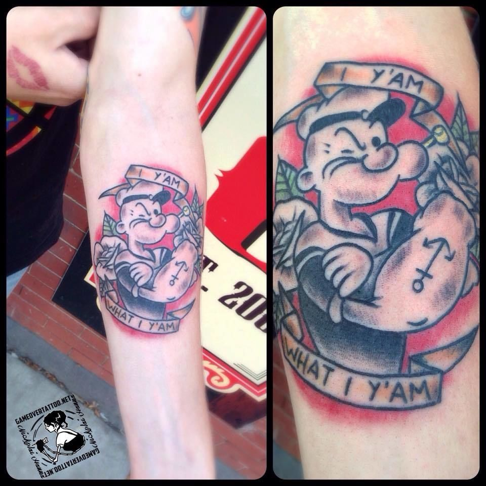 nickolaihanna classic popeye tattoo traditional tattoos classic