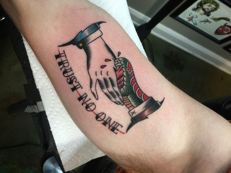 heart tr st tattoos latest trust no one tattoos find trust ...