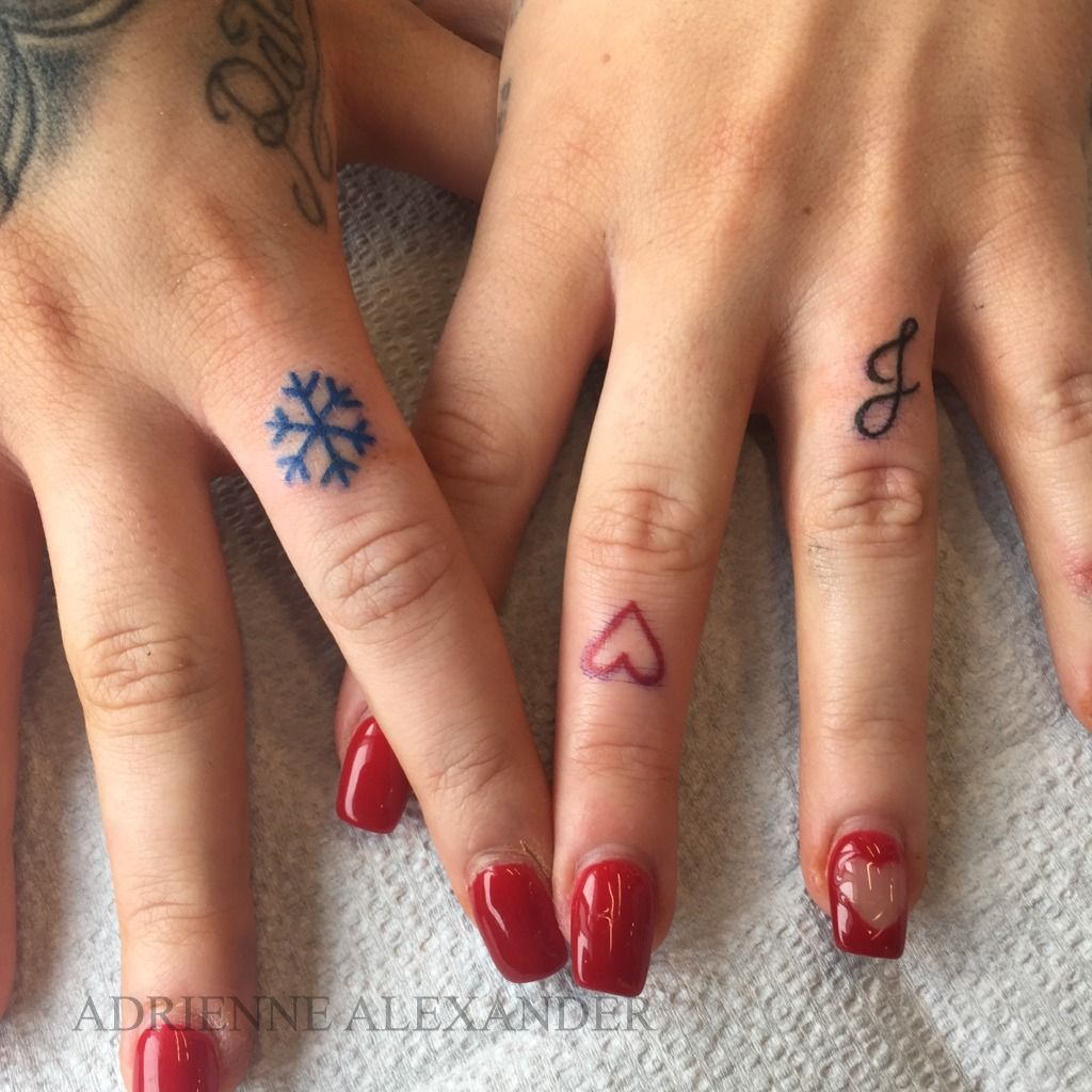 Image result for snowflake tattoo finger