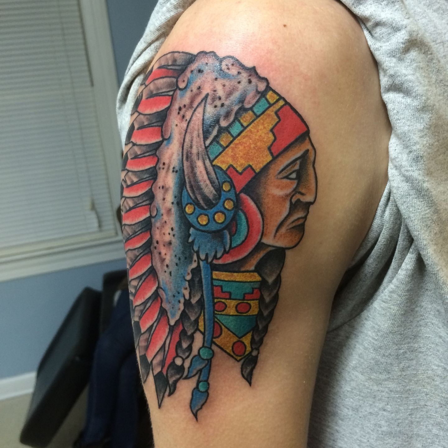 robbie indian tattoo native american color traditional tattoos