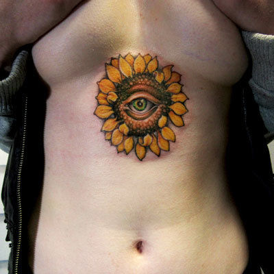 Sunflower-tattoo-peter-anderson-the-bell-rose-tattoo-and-piercing-mobile-alabama