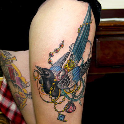 Magpie-tattoo-peter-anderson-the-bell-rose-tattoo-and-piercing-mobile-alabama
