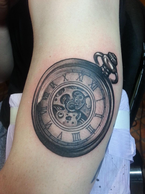 Jordancampbellart timeless timeless watch clock pocket for Time piece tattoos