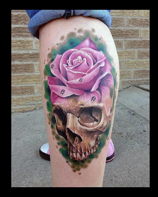 Karl-berringer_skull-roses