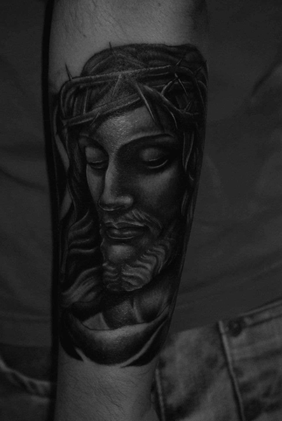 Jesus-christstatue-rosemary-mckevitt-tattoo-ireland