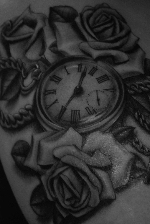 Pocket-watch-chain-roses-rosemary-mckevitt-tattoo-ireland