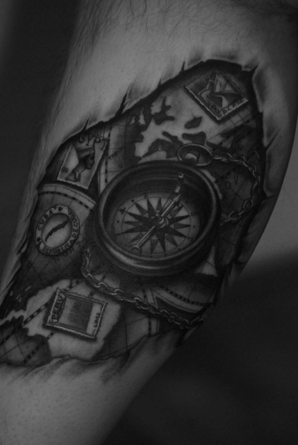 Compass-map-torn-skin2-rosemary-mckevitt-tattoo-ireland