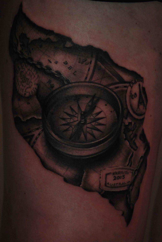 Compass-map-stamps-rosemary-mckevitt-tattoo-ireland
