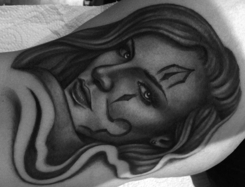 Chicano-chola-gangster-girl-rosemary-mckevitt-tattoo-ireland