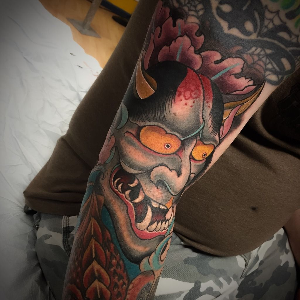 Noahmorris:hannya-japanese-tattoo-neo-traditional-hannya