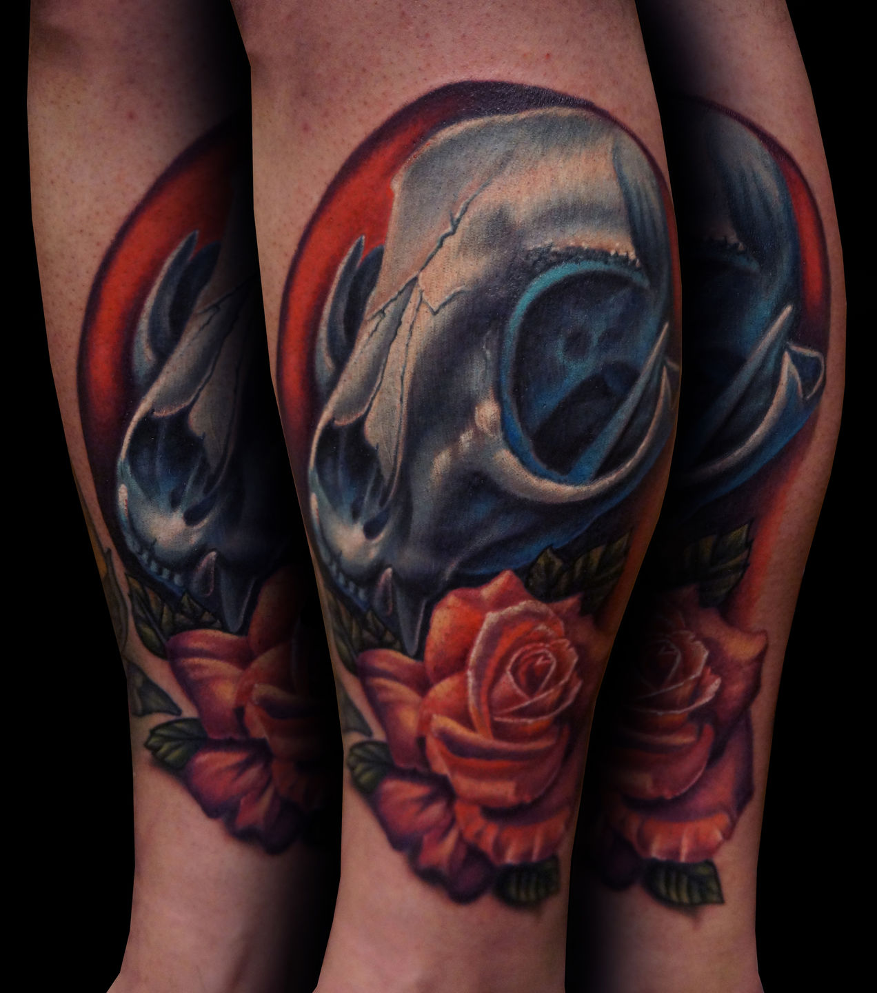 dannyelliott:skull-and-owl-skull-and-rose-tattoo-rose ...