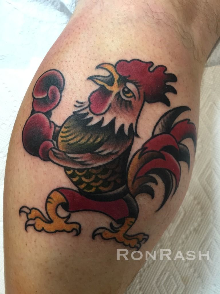 Fighting Roosters Tattoo