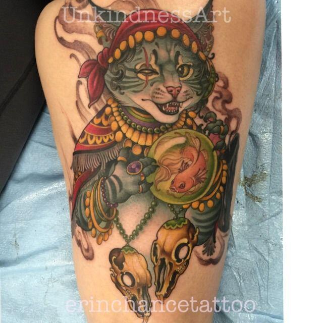 erinchance:fortune-teller-gypsy-fortune-teller-cat-cattoo ... Crystal Ball Fortune Teller