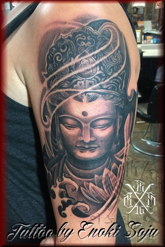 Enokisojubuddah and lotus flower tattoo japanese art buddah buddha 180764681380997775299142190844157641786754o mightylinksfo