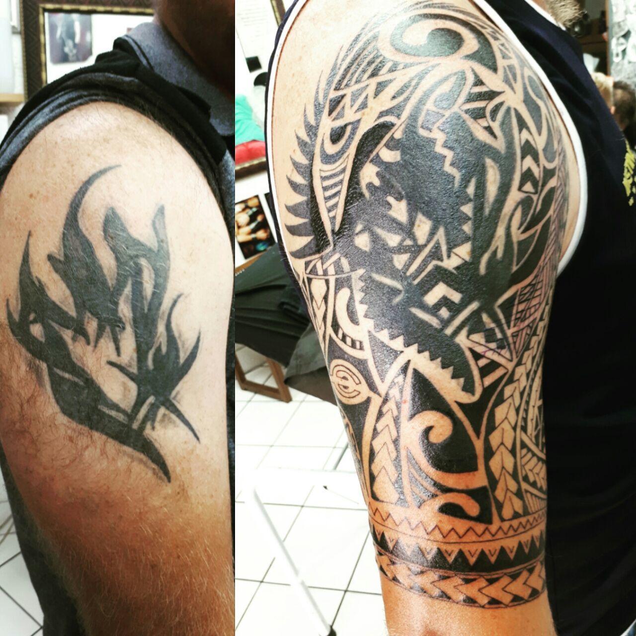 Maori Tattoo Cover Up: Desdiankova:cover-up-cover-up-maori-polynesian