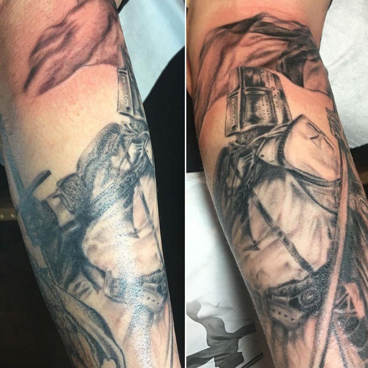 Jakitatutemplar Knight Knight Knight Tattoo Templar Black And Grey