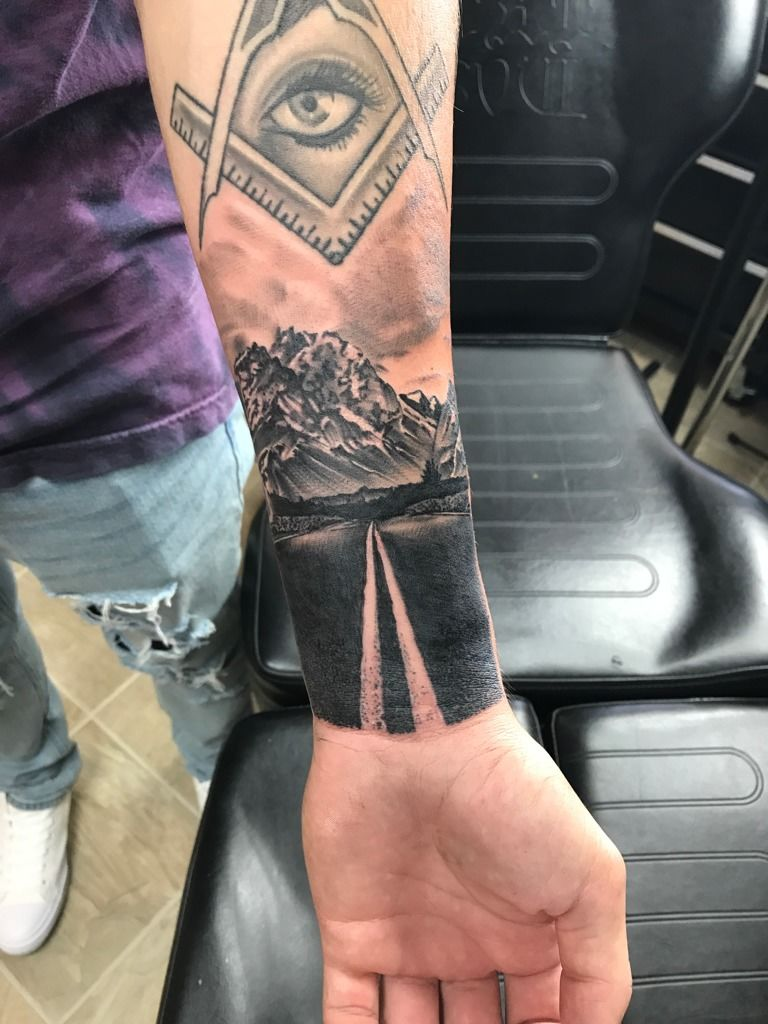 Mat Road To Nowhere Mountains Road Tattoo