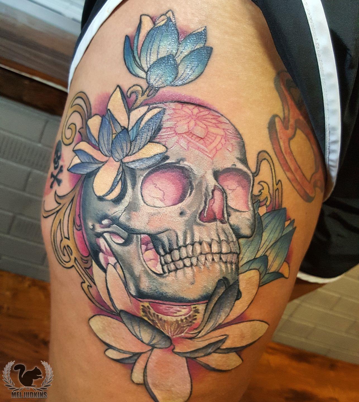 Meljudkinslotus Skull Lotus Lotustattoo Skull Tattoo Meljudkins