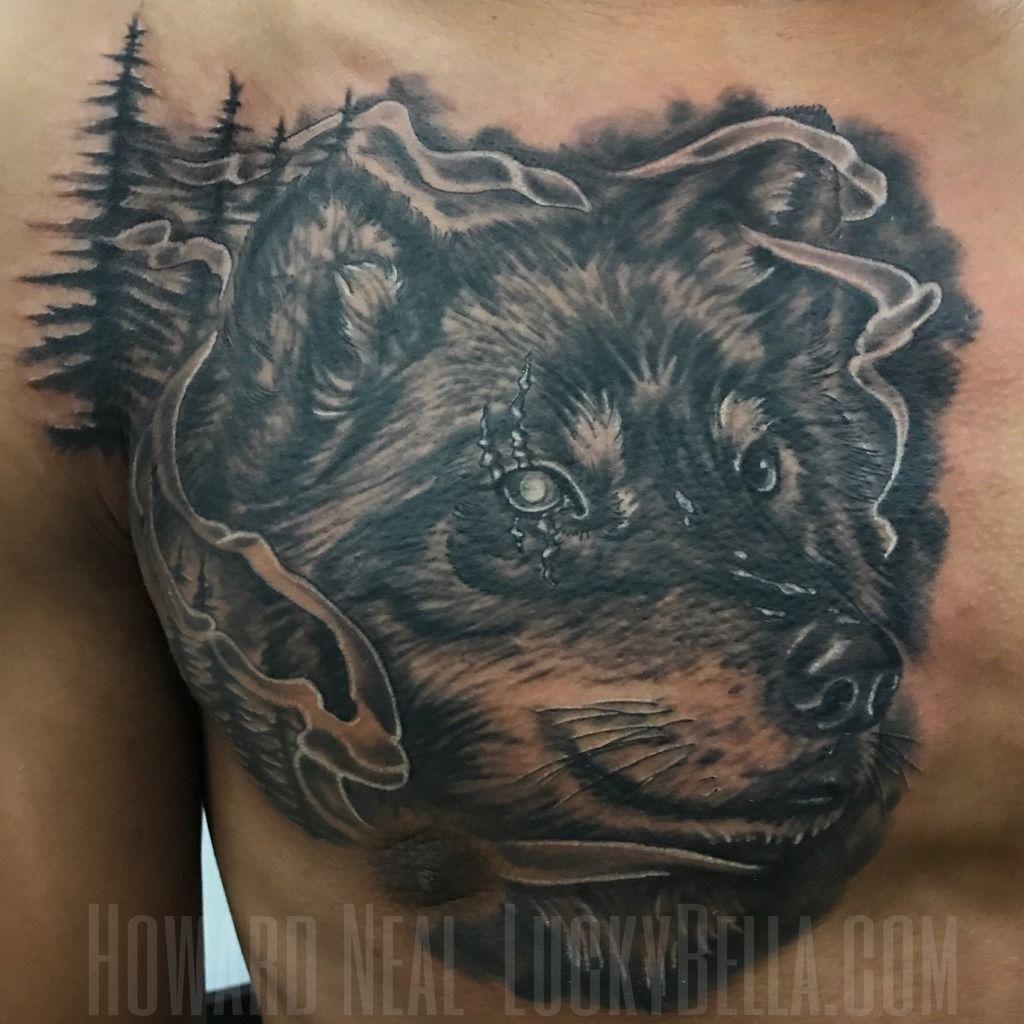Howardnealtattooswolf Tattoo Done By Howard Neal Wwwluckybellacom