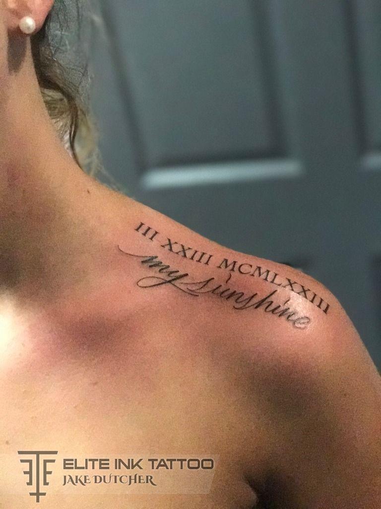 Jakedutcher Roman Numerals Script Lettering Girls With Tattoos