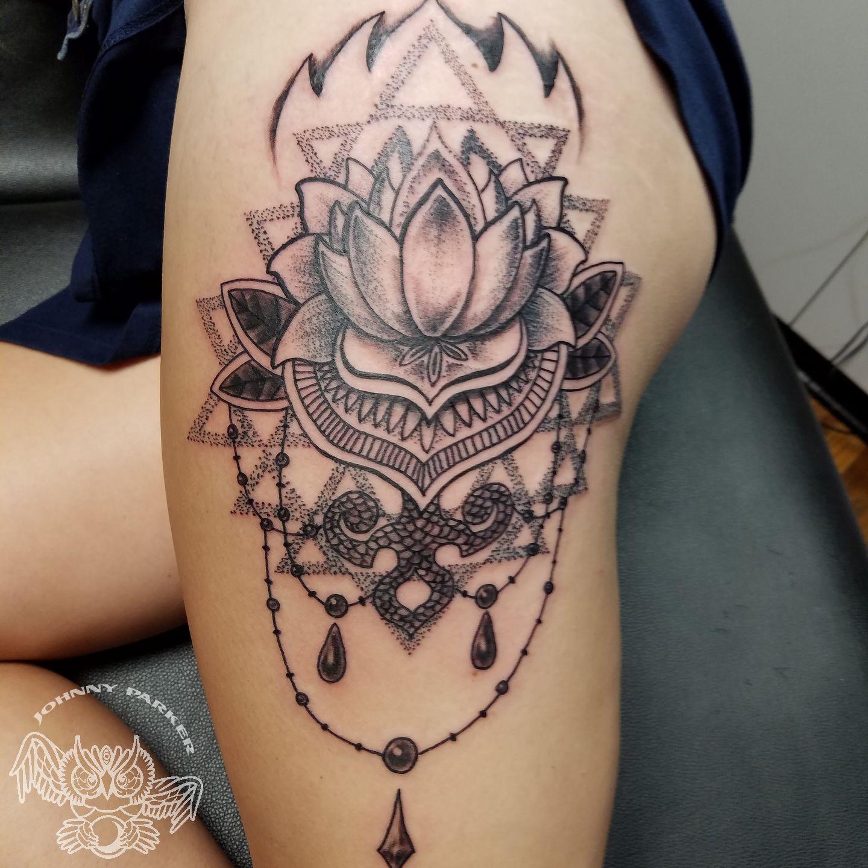 Johnnyparkerlotus blackwork lotus flower tattoo black and grey img20160813185437 izmirmasajfo