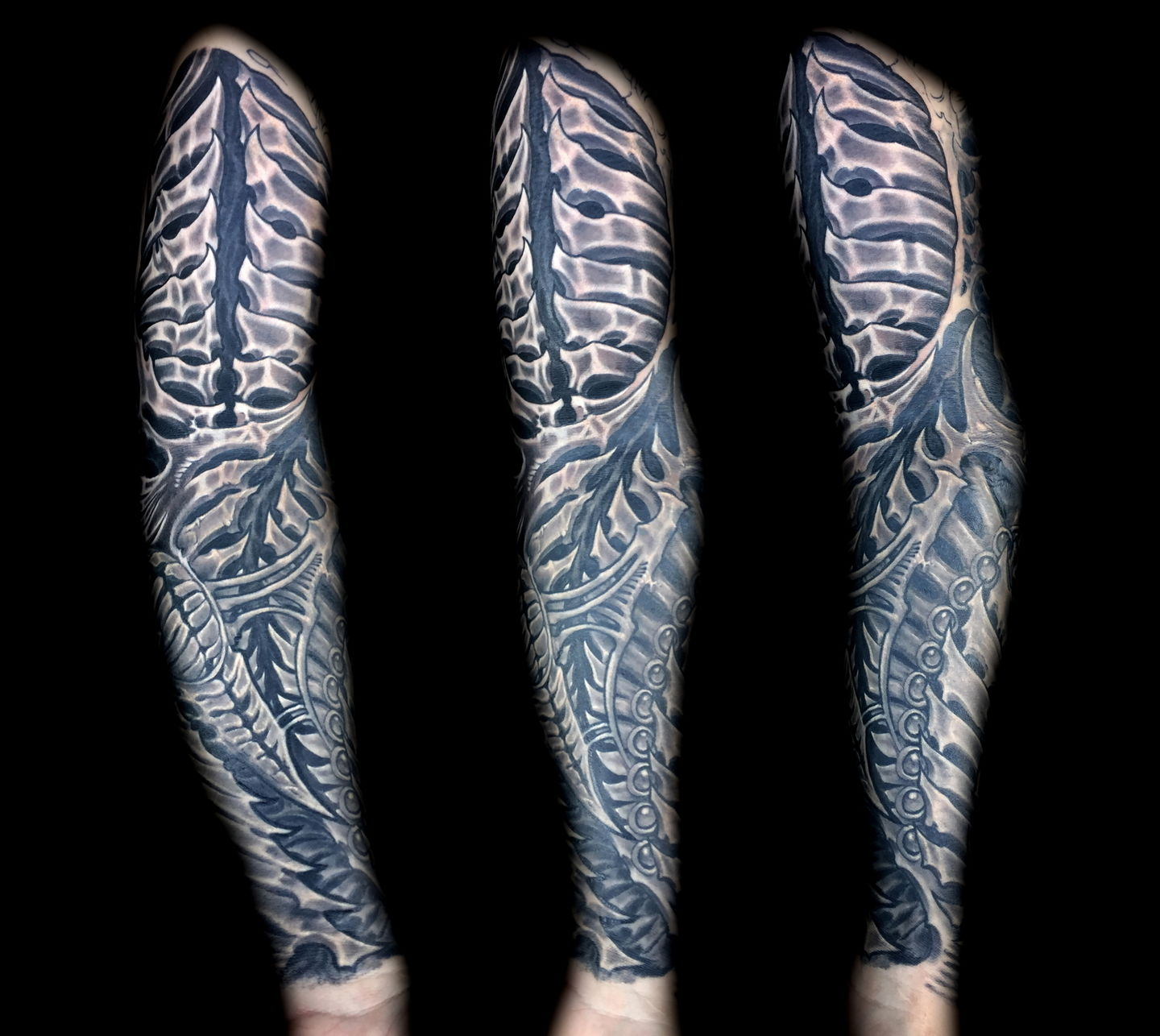 Las-vegas-tattoo-artist_joe-riley_biomech-bone-sleeve