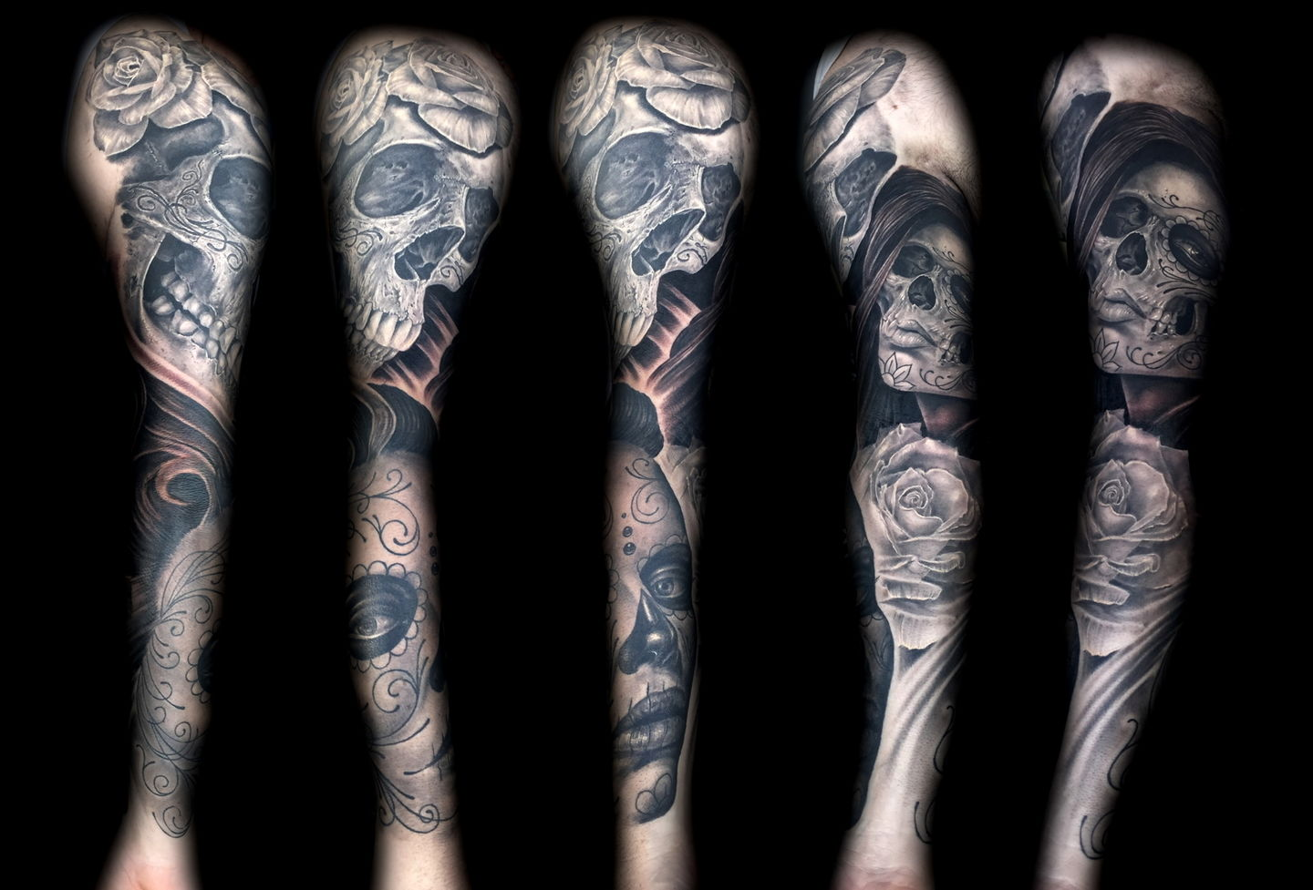 Las-vegas-tattoo-artist_joe-riley_day-of-the-dead-sleeve2