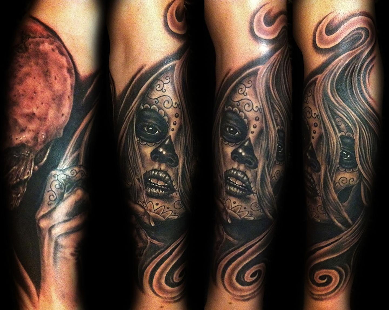 Las-vegas-tattoo-artist_joe-riley_day-of-the-dead-girl-tattoos