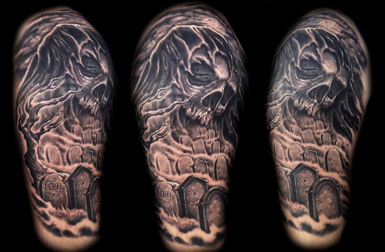 Las-vegas-tattoo-artist_joe-riley_grim-reaper-graveyard-tattoo