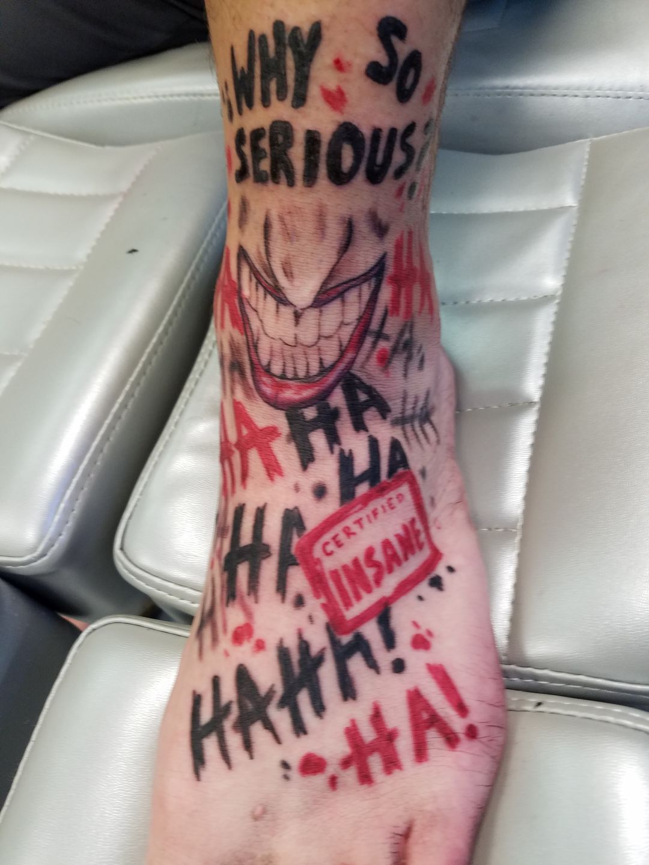 Brianunderwood Joker Footankle Tattoo Joker Ankletattoo Intenze