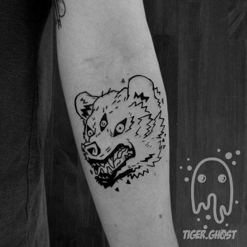 lumberjacktom:bear-blackwork-on-forearm-color-tattoo-tattoo-japanese ...