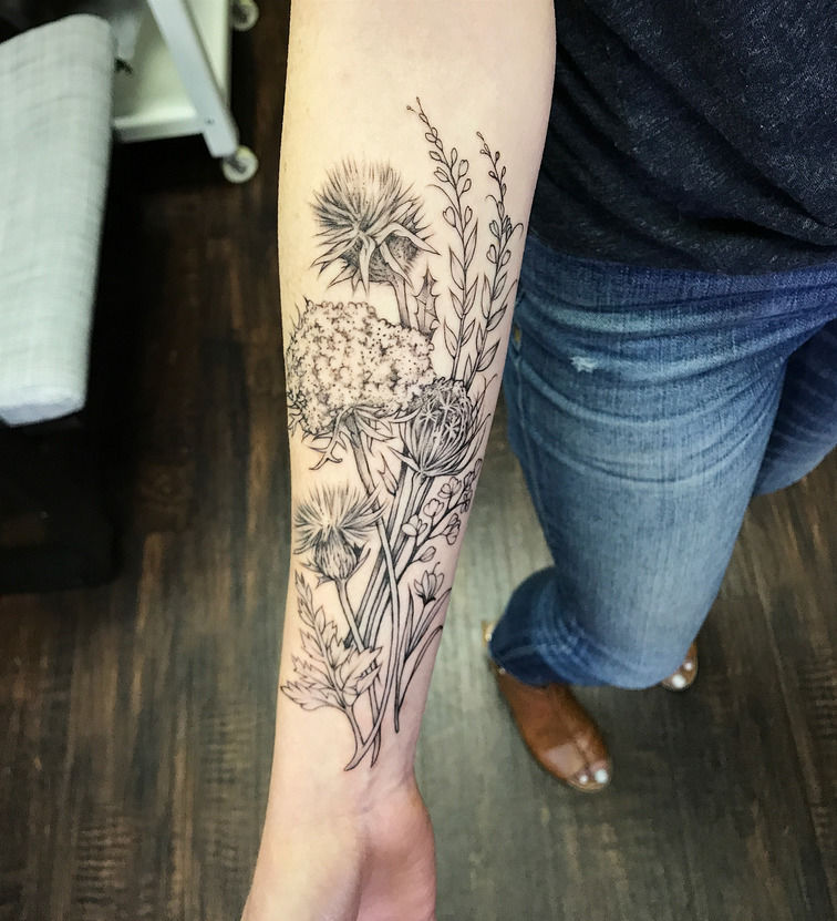d7493840c michaelbales:wildflower-spread-on-forearm-michael-bales-rebel-muse ...