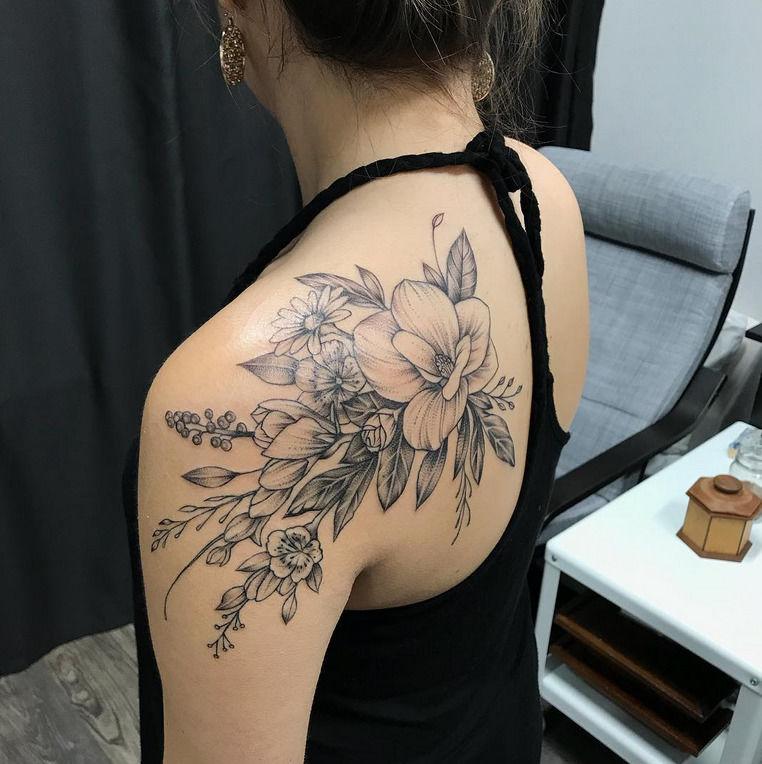 948095aed michaelbales:floral-on-backshoulder-michael-bales-rebel-muse-tattoo ...