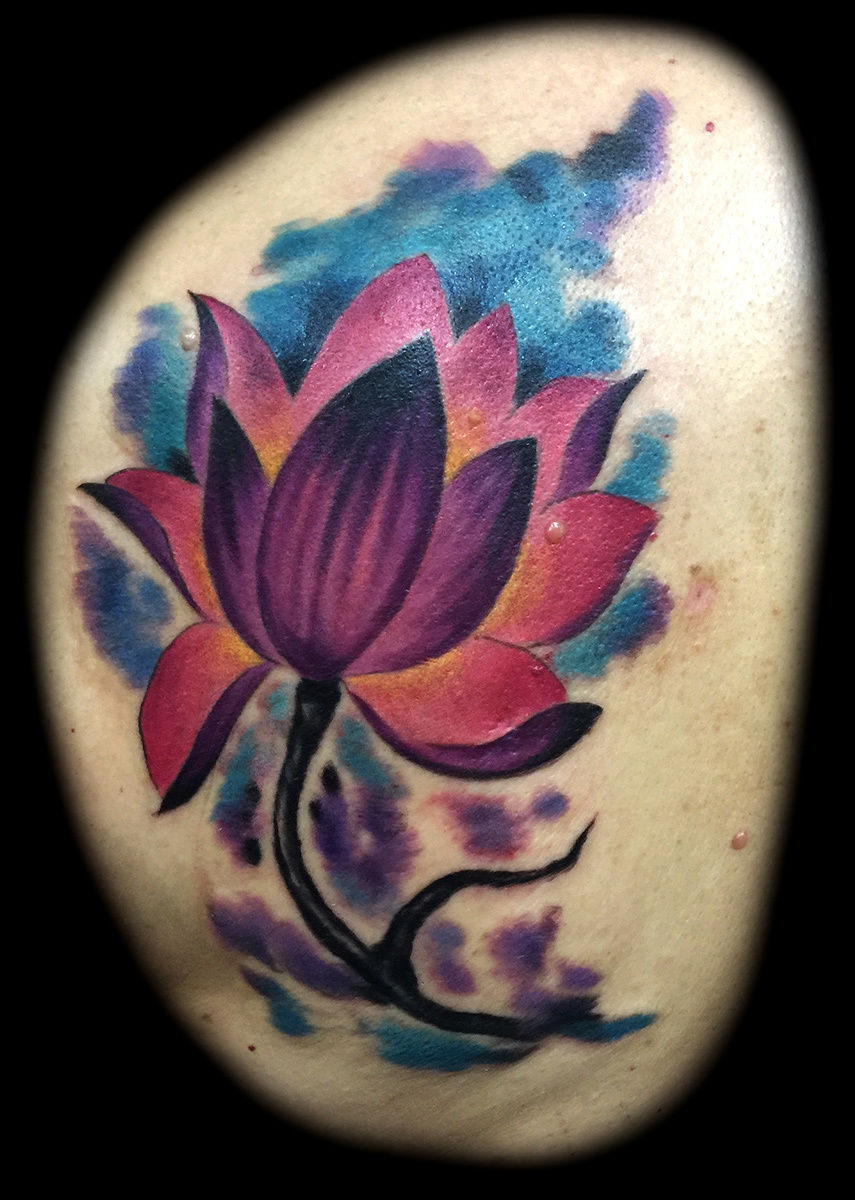 Joerileywatercolor Lotus Tattoo Watercolor Lotus Flower Tattoos For