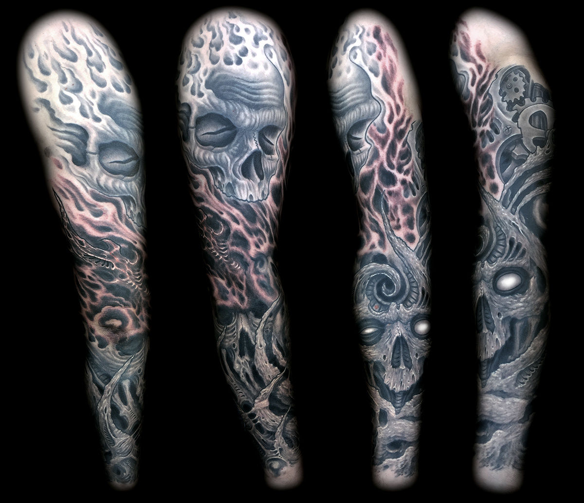 9e5d4c905e96e joeriley:biomech-skull-sleeve-biomech-biomechanical-skulls-sleeve