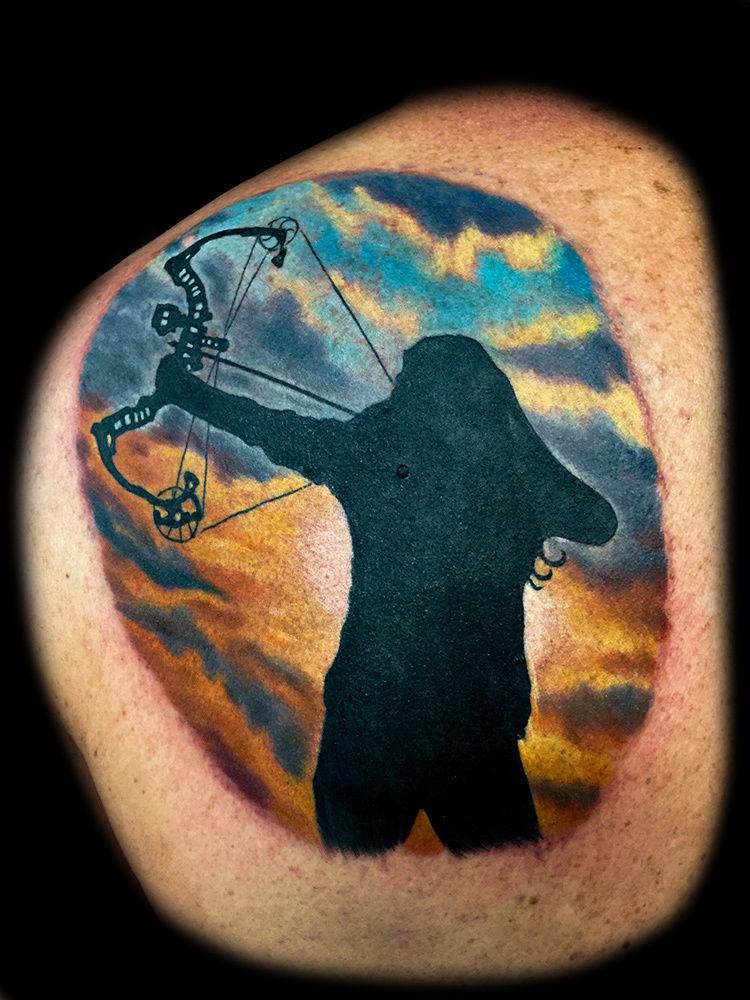 Best-tattoo-artists-in-las-vegas-joe-riley-inner-visions-tattoo-archery-tattoos
