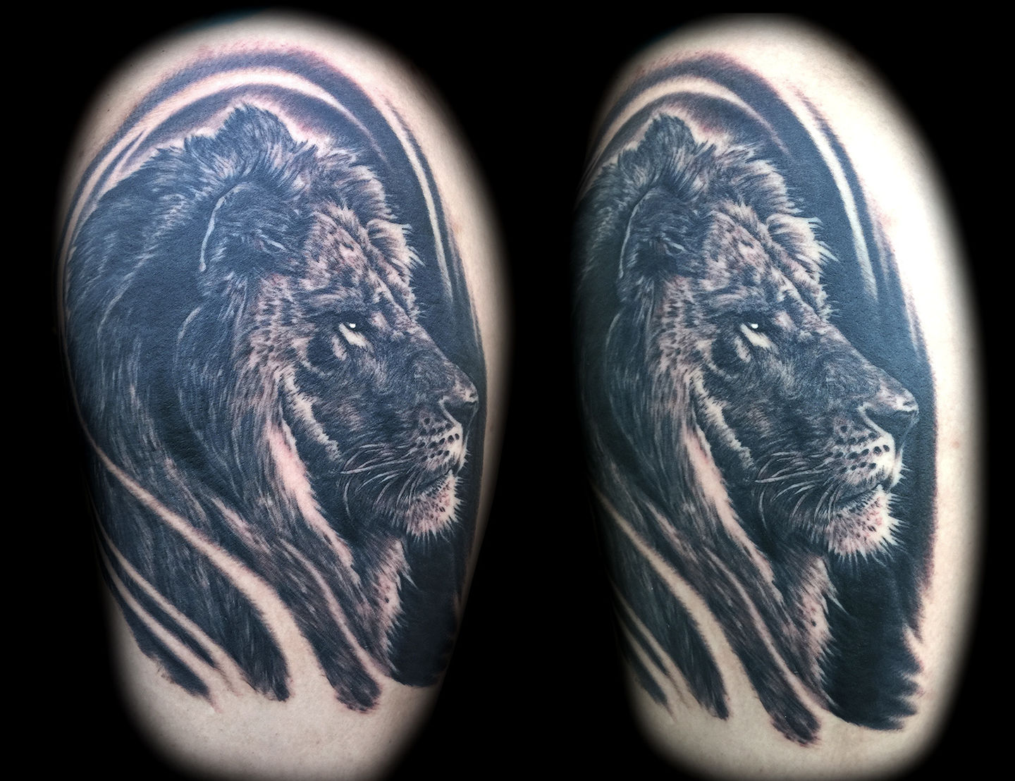 Best-las-vegas-tattoo-artists-shops-joe-riley-inner-visions-tattoo-lion-tattoos